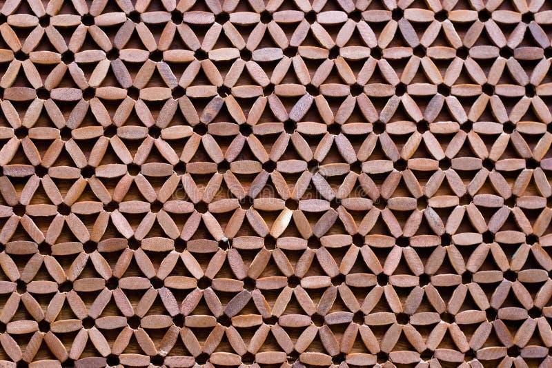 Estera modelada de madera - fondo abstracto foto de archivo