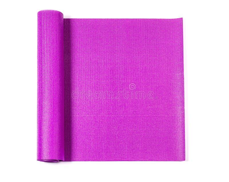 Estera rosada de la yoga imagen de archivo