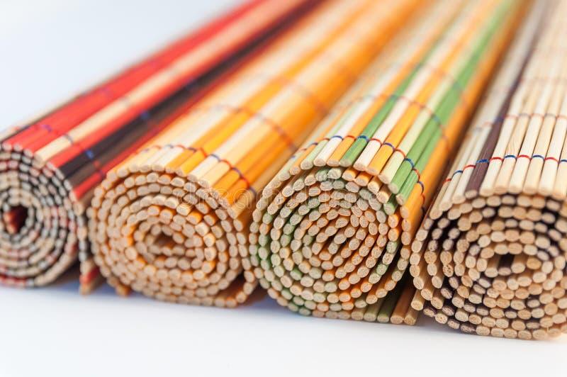 Esteras de bambú fotografía de archivo