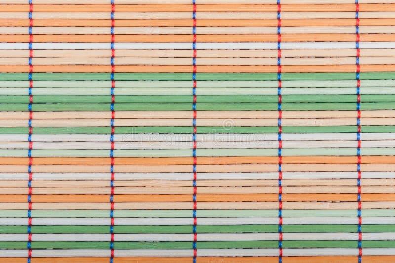 Esteras de bambú imagenes de archivo