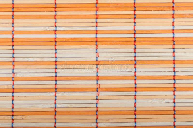 Esteras de bambú foto de archivo