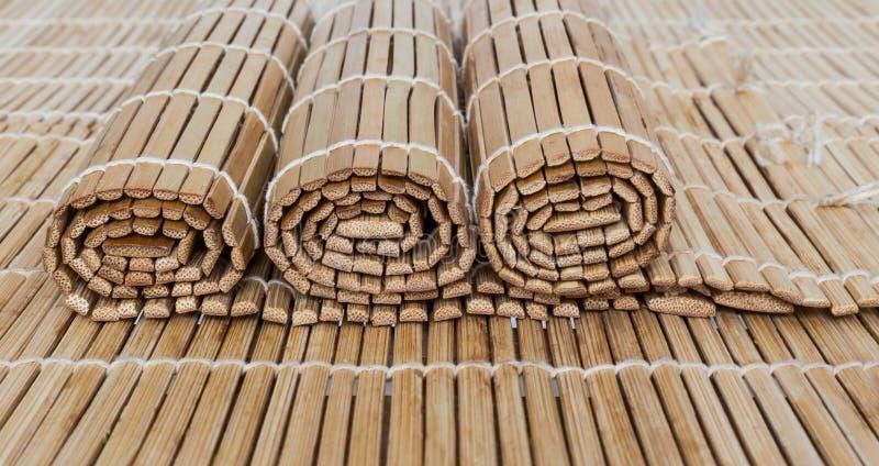Esteras de bambú imágenes de archivo libres de regalías