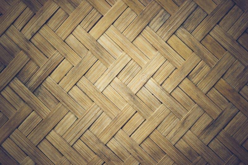 Esteras de la textura del primer hechas de bambú foto de archivo