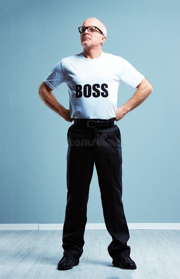 Estereótipo altivo arrogante do chefe imagem de stock