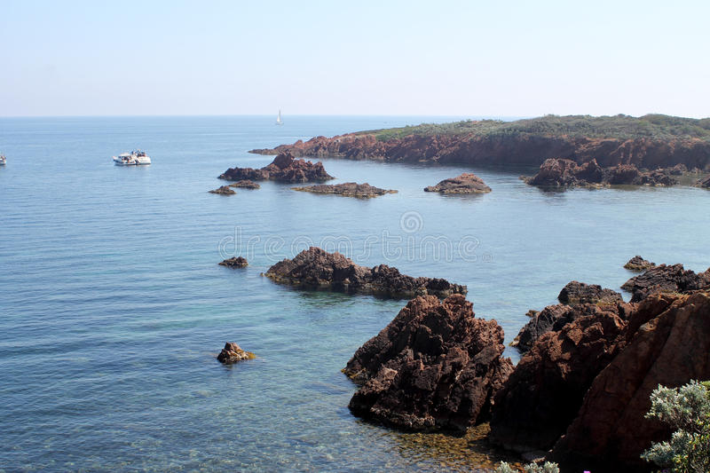 Esterel coast in French Riviera royalty free stock image