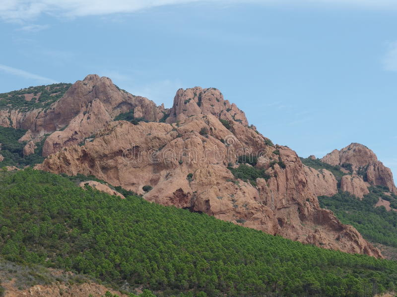 Esterel massif in provence royalty free stock photo