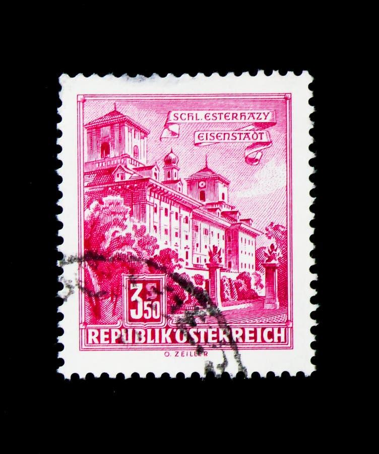 Esterhazypaleis, Eisenstadt, Gebouwen serie, circa 1962 stock fotografie