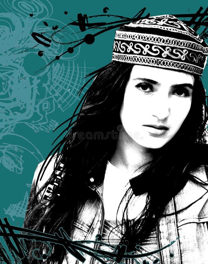 Download Estern girl stock illustration. Illustration of model - 6969821