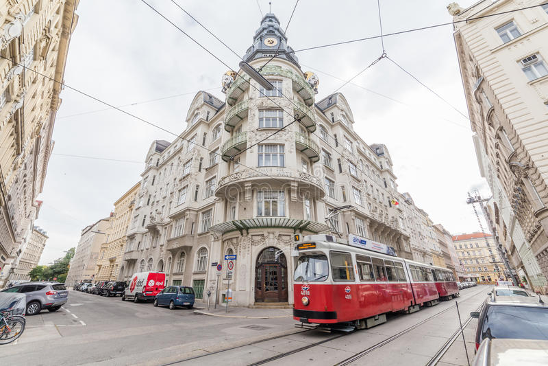 Esterni della costruzione a Vienna, Austria fotografia stock libera da diritti
