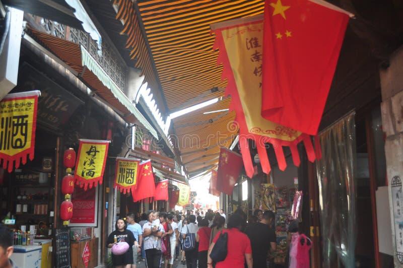 Esterno antico della strada della città di Yiwu Fotang delle attrazioni turistiche della via della Cina immagine stock libera da diritti