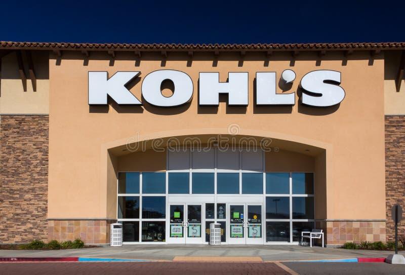 Esterno del grande magazzino di Kohl immagini stock libere da diritti