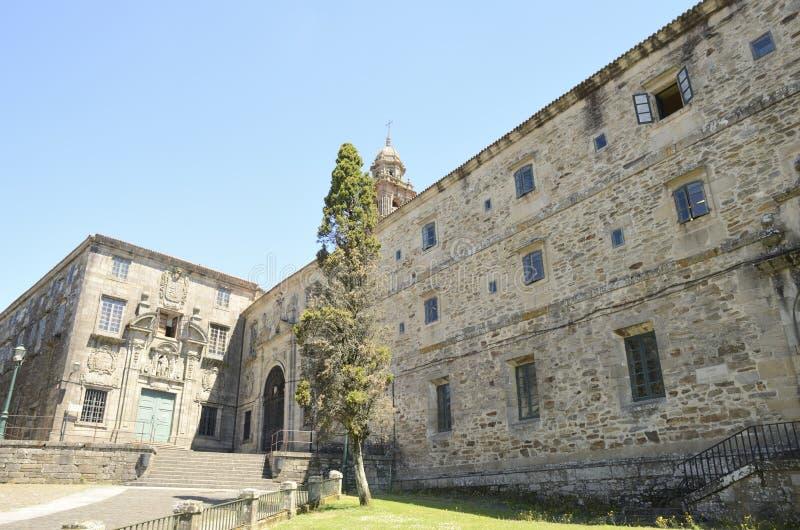 Esterno del monastero in Santiago de Compostela immagini stock libere da diritti