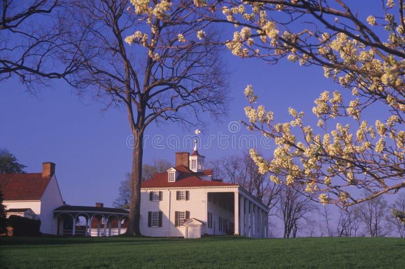 Esterno del Mt Vernon, la Virginia, casa di George Washington fotografia stock