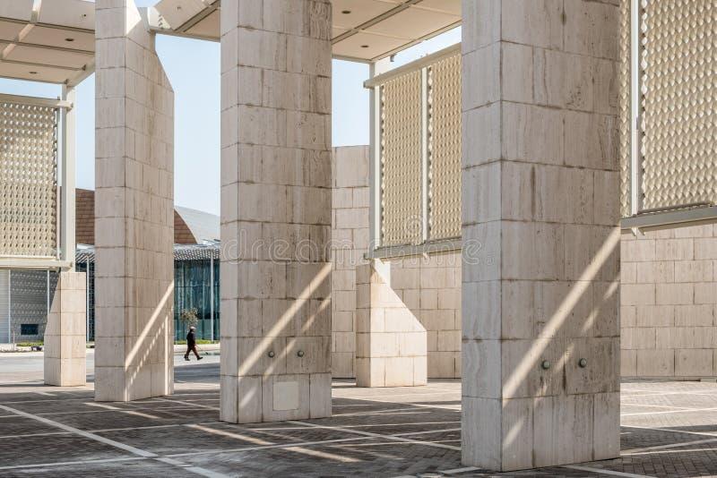 Esterno del museo nazionale del Bahrain immagini stock libere da diritti
