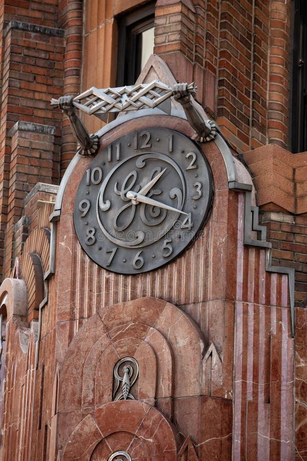 Esterno dell'edificio di Art Deco General Electric immagini stock libere da diritti
