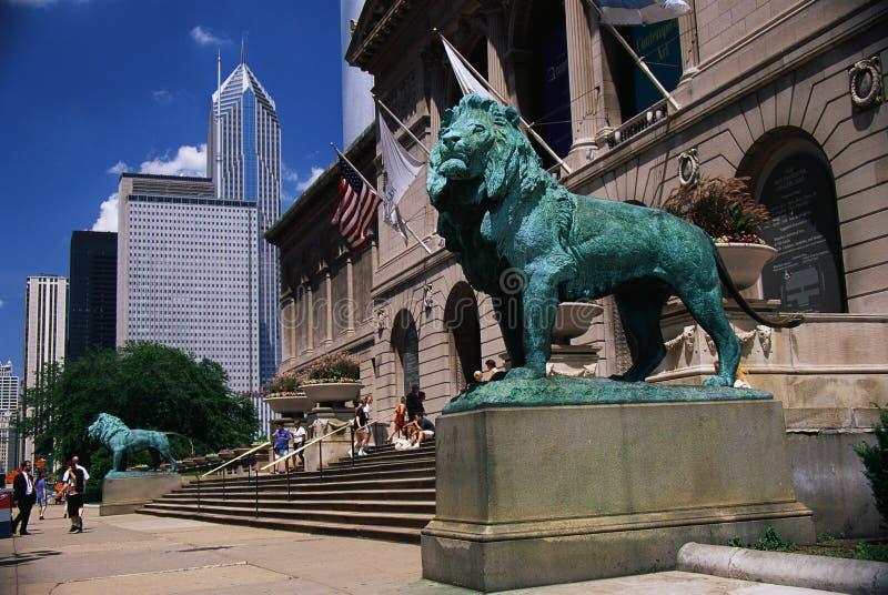 Esterno dell'istituto di arte di Chicago immagini stock libere da diritti