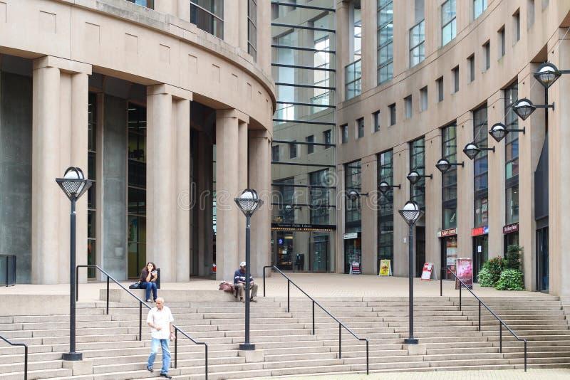 Esterno della biblioteca pubblica di Vancouver fotografie stock