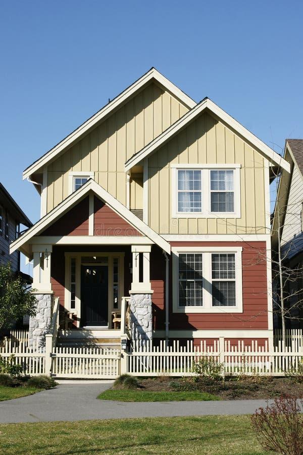Esterno della casa della nuova casa immagini stock libere da diritti