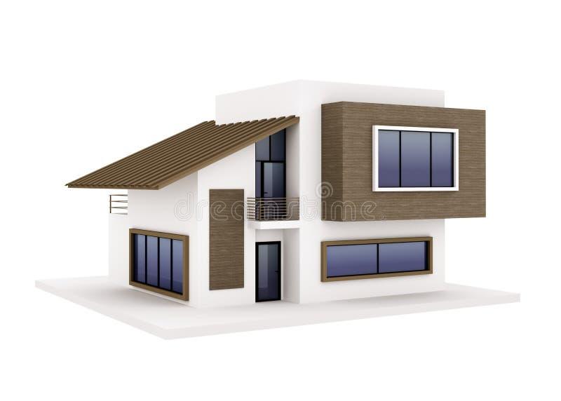 Esterno della casa moderna illustrazione di stock for Architettura moderna della casa
