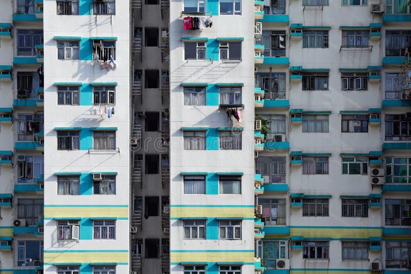Esterno della costruzione di appartamento fotografie stock