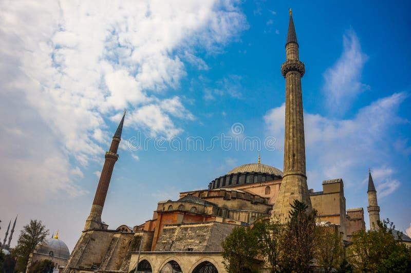 Esterno della moschea di Hagia Sophia a Costantinopoli, tacchino immagini stock