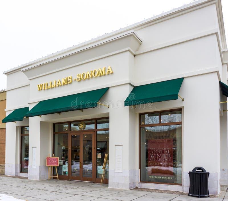 Esterno della vendita al dettaglio di Williams-Sonoma fotografia stock
