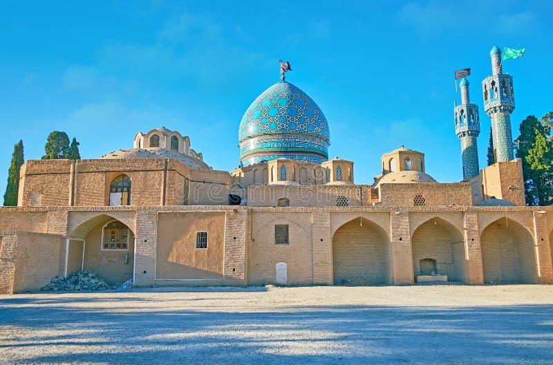 Esterno dello scià Nematollah Vali Shrine, Mahan, Iran immagini stock libere da diritti