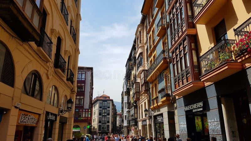 Esterno di Casco Viejo, Bilbao, Spagna fotografia stock libera da diritti