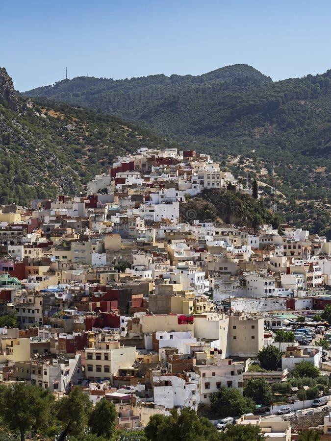 Esterno scenico della città di Meknes, Marocco fotografia stock libera da diritti