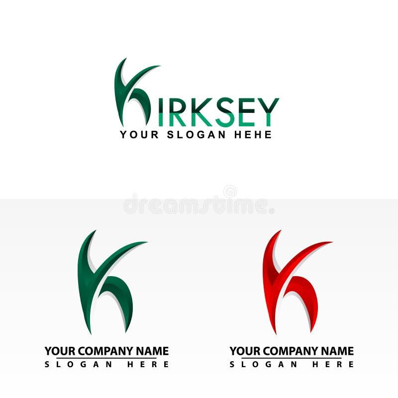 Estes último del logotipo de K stock de ilustración