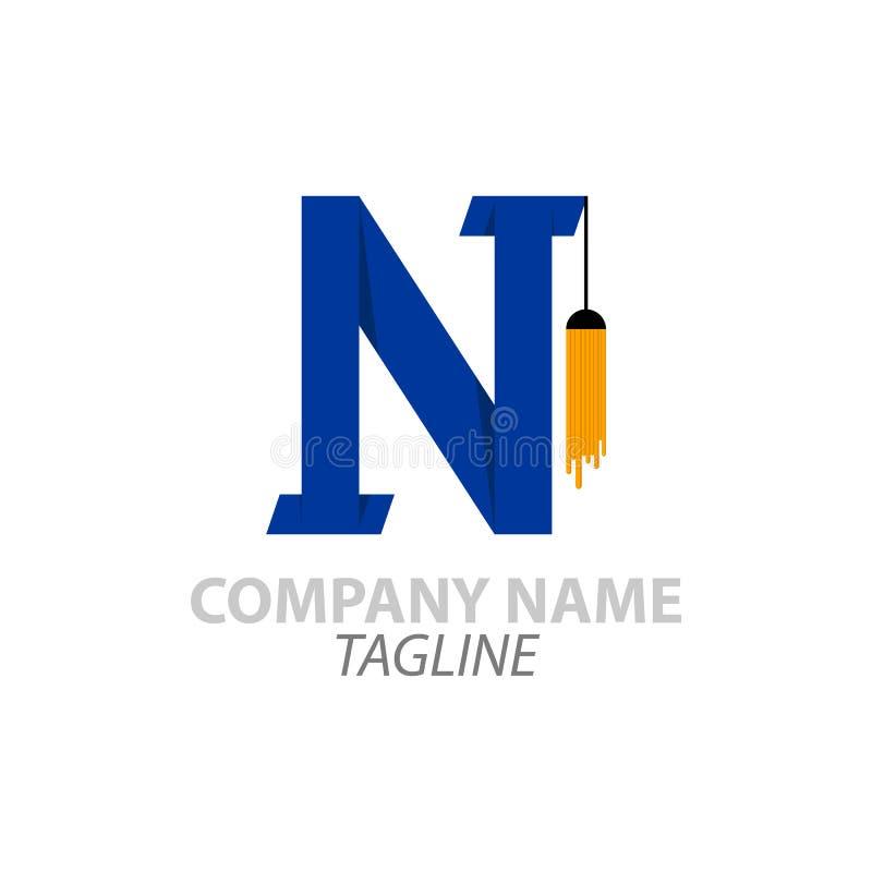 Estes último del logotipo de N libre illustration