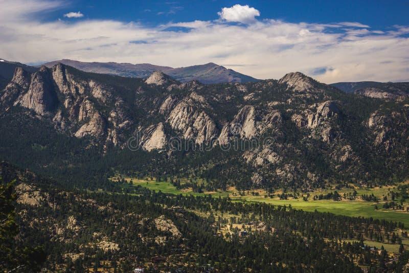 Estes Park Aerial fotografía de archivo