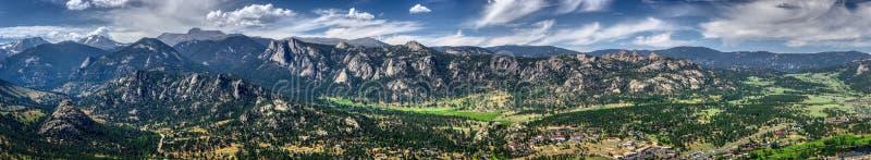 Estes Park Aerial Panorama fotos de archivo