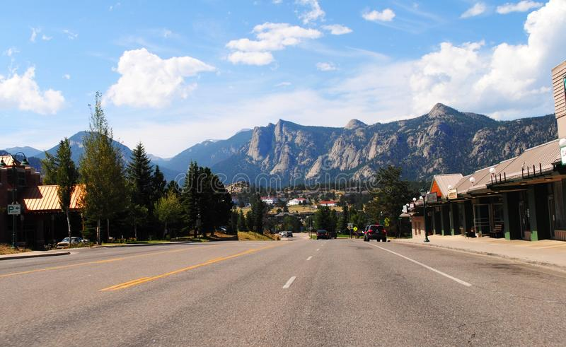 Estes Park - Colorado. Estes Park is a town in Larimer County, Colorado, United States. A popular summer resort and the location of the headquarters for Rocky royalty free stock photo