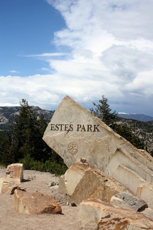 Estes Park-rots stock afbeelding