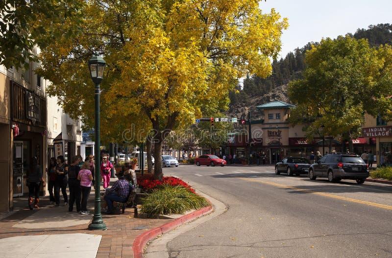 Estes Park-Straßen-Szene stockfotografie