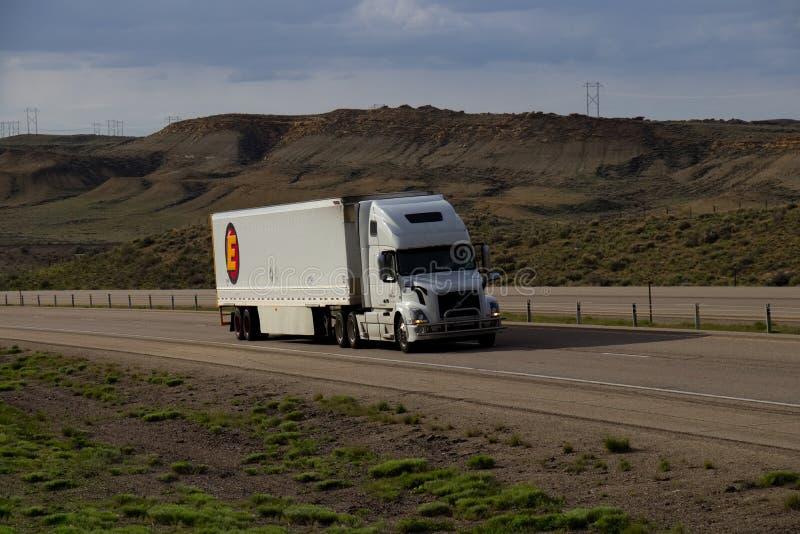 Estes Trucking fotografia stock