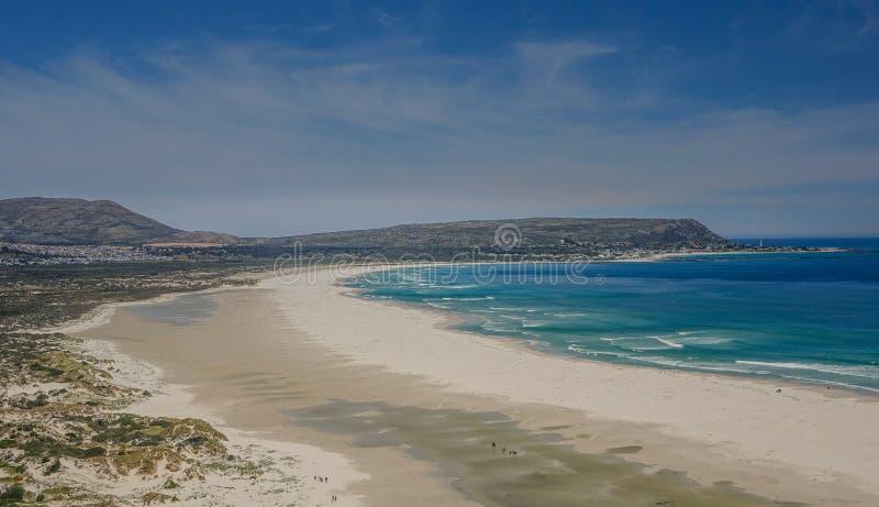 Estesa spiaggia a Cape Town fotografia stock