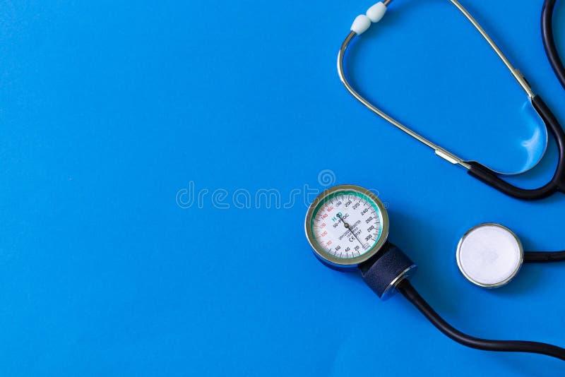 Estetoscopio médico de la prueba de la cardiología Diagnóstico médico encuesta fotos de archivo libres de regalías