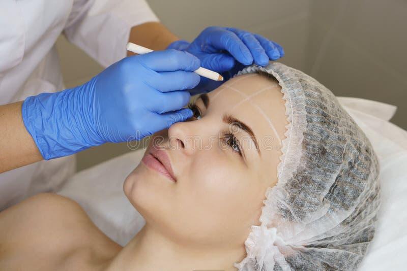 Estetyczna kosmetologia Twarzy dźwignięcie obraz stock