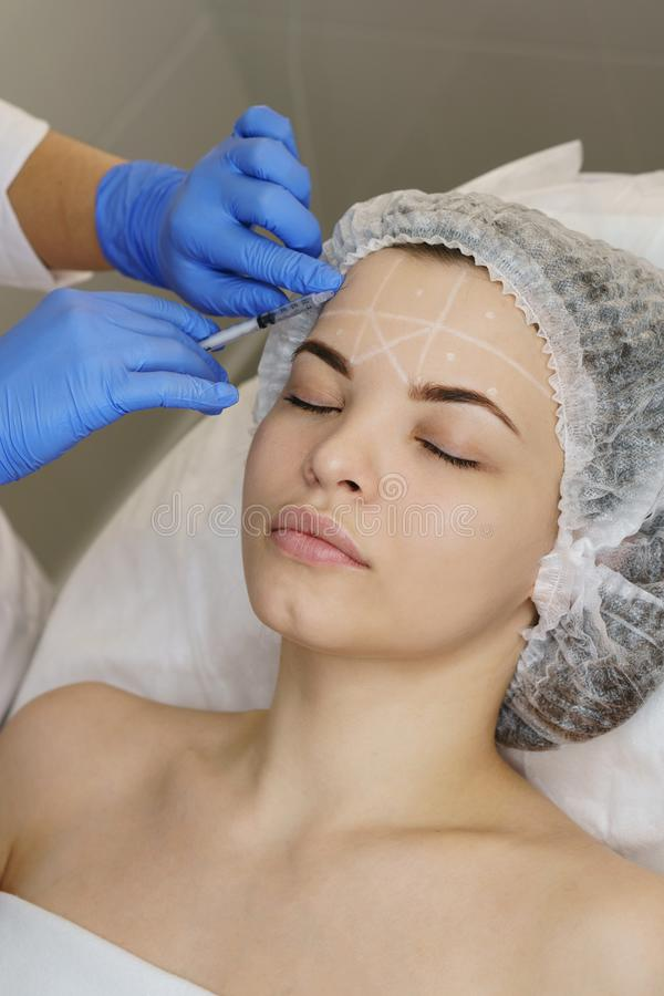 Estetyczna kosmetologia Twarzy dźwignięcie zdjęcia stock