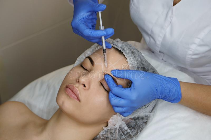 Estetyczna kosmetologia Twarzy dźwignięcie zdjęcie royalty free