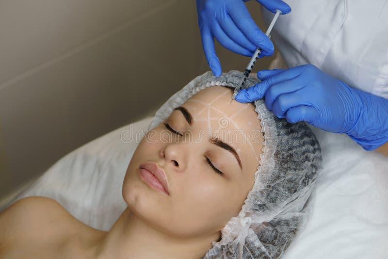 Estetyczna kosmetologia Twarzy dźwignięcie fotografia royalty free
