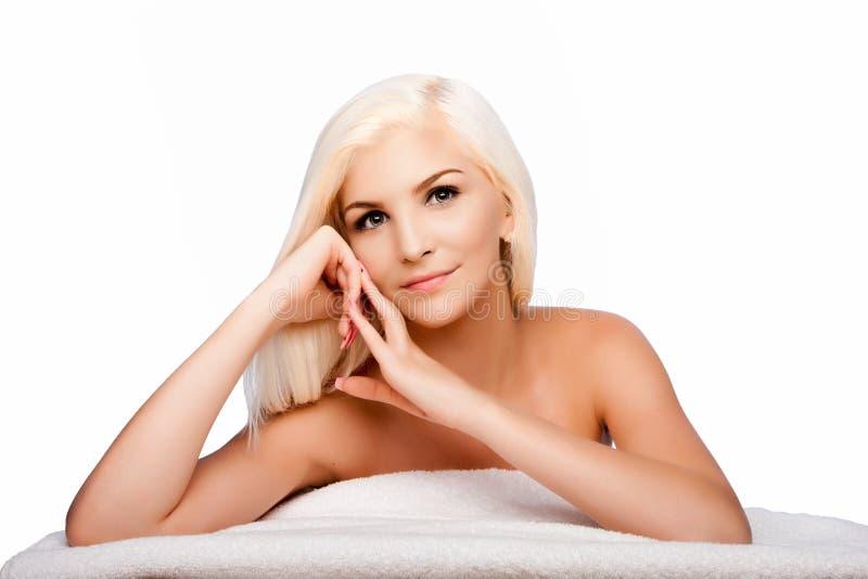 Estetyki skincare pojęcia kobiety twarzowa twarz obrazy stock