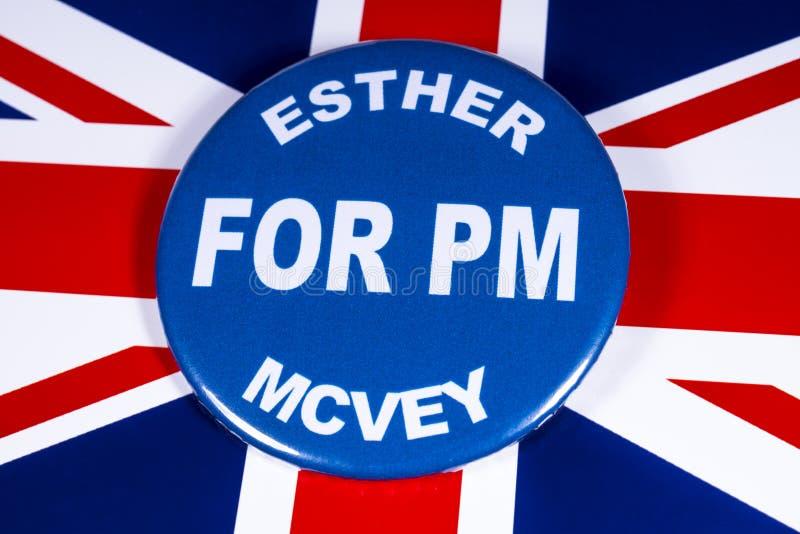 Esther McVey para o primeiro ministro fotografia de stock royalty free