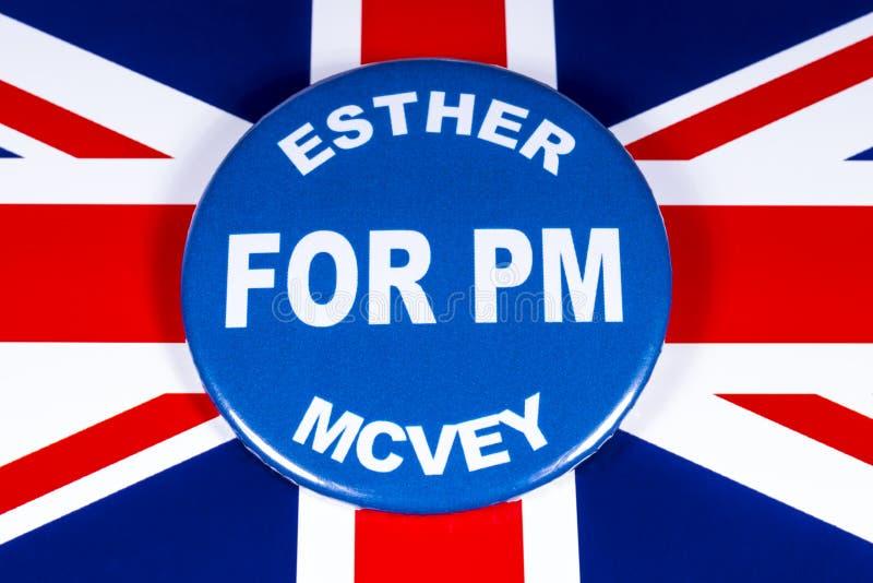 Esther McVey para o primeiro ministro fotos de stock royalty free