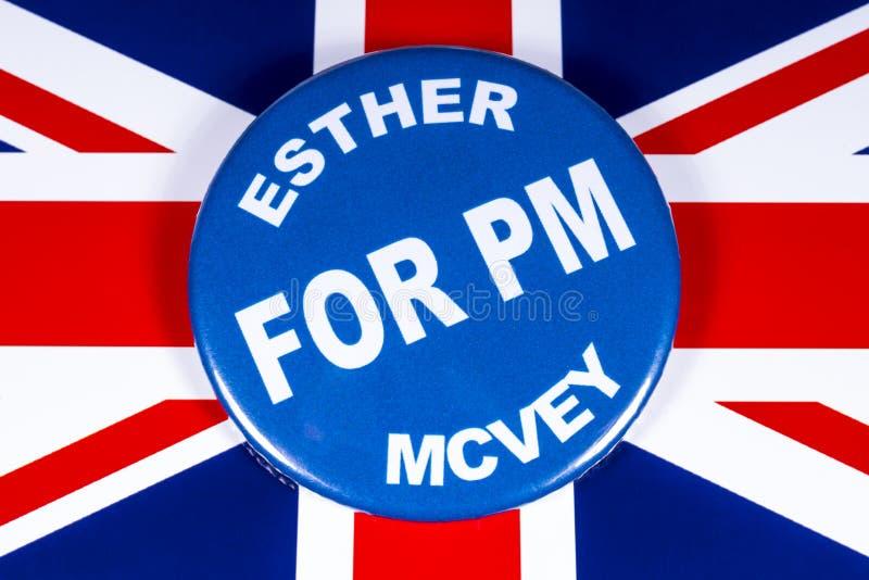 Esther McVey para o primeiro ministro fotografia de stock