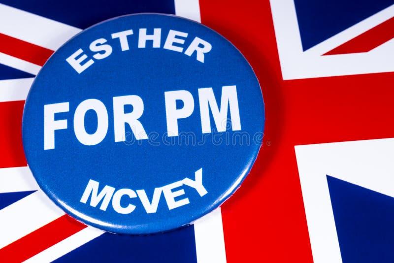 Esther McVey para o primeiro ministro imagens de stock royalty free