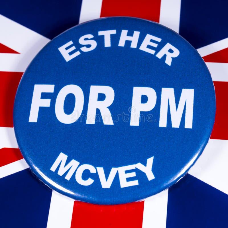 Esther McVey para o primeiro ministro imagens de stock