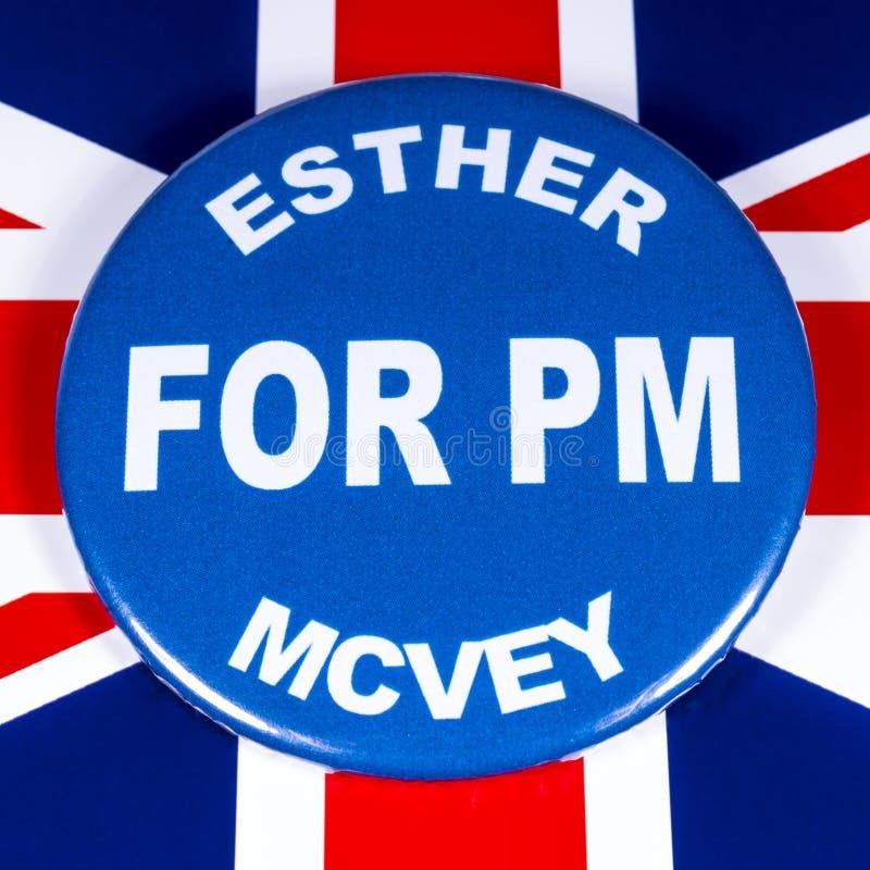 Esther McVey para o primeiro ministro foto de stock royalty free